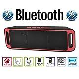 AGM Bluetooth スピーカー ステレオ 2.1CH YOUTUBE視聴可 低音専用ウーハー装備 ( FMラジオ ) ( ハンズフリー テレホン ) ( LINE IN ) ( USBメモリー ) ( MICRO SD ) 安心の基本機能一年メーカー保証 日本語説明書付 SC208 (レッド)