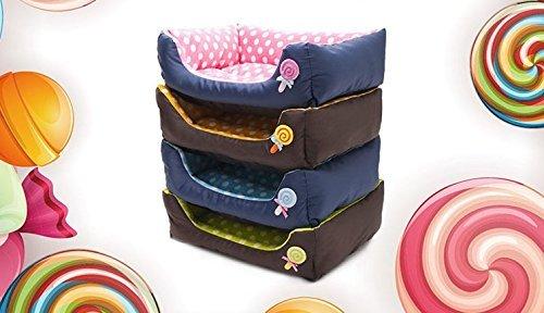 fashiondays ペット ベット ソファー 犬 猫 小型犬 中型犬 大型犬 洗濯可能 ドット S ライトブルー