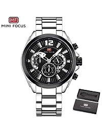 5b19abb30e MINIFOCUS 2018 メンズ腕時計 海外高級ブランド 防水 クロノグラフ クォーツ時計 ...