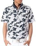 (カールカナイ ゴルフ) KarlKani GOLF ポロシャツ カモ総柄 ドライ 鹿の子 [吸汗速乾] 72KG1216 ホワイト Sサイズ