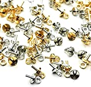Insert Heat 0.1 x 0.3 inches (4 x 8 mm), 50 x Gold + 50 x Silver UV Resin Accessories Parts, Handmade, Crafts,
