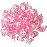 Perfk キッズ イヤリングベース 穿孔不要 子供用 ジュエリー素材 アクセサリー 50個入り ピンク