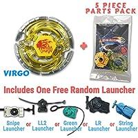 Earth Virgo bb-60ベイブレードスターターセットIncludes Freeギフト – 1 Launcher、1ランダムStatsカード、& 5ピースベイブレードパーツパック – すべてからメタルFusion、メタルFury、&メタルMastersシリーズ