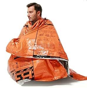 サバイバルシート アウトドアスポーツ 緊急時 体温維持 に 目に優しく 救難信号 にも目立つ オレンジ色 と シルバー の リバーシブル 非常用 レジャー スポーツ 事故 に備えましょう! 重宝する3枚セットです