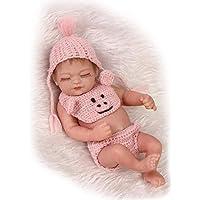 NPK Sleeping PreemieフルボディシリコンソフトビニールReal Looking Rebornベビー人形Lifelike新生児女の子人形10インチ/ 26 cm