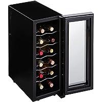 アイリスオーヤマ ワインセラー 12本収納 33L 12~18℃ ペルチェ式 庫内LED ミラーガラス メーカー1年保証…