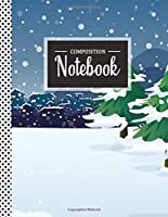 Composition Notebook: Winter Snow College Notebook For Students (8.5x11) Wide Ruled Lined With 120 Pages, School Subject Book Notes