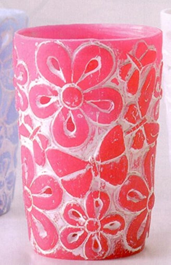 ブラウンエスカレートリングレットフルーレ(キャンドルホルダー) ピンク