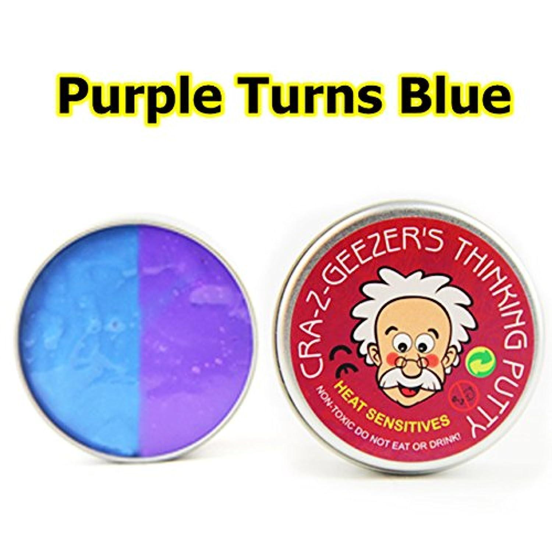 Dulcii Slimeコットン泥色Changing Stress Relief粘モデルクレイ、ふわふわFloamおもちゃ香りつきStress Relief No Borax Kids Toy Sludge Toy Purple Turns Blue 87070703B