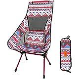 DesertFox アウトドアチェア 折りたたみ 超軽量【ハイバック】【耐荷重150kg】コンパクト イス 椅子 収納袋付属 お釣り 登山 携帯便利 キャンプ椅子0018 (ピンク/ハイバック)