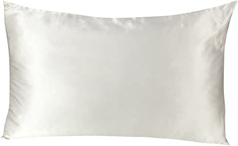 Tenn Well シルク枕カバー, 19匁シルク100%ピローケース 両面タイプ (1枚 白い)