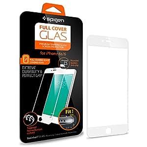 【Spigen】 iPhone6s ガラス フィルム / iPhone6 ガラス フィルム, フルカバー グラス [ 3D Touch 全面液晶保護 9H硬度 發油加工 ] アイフォン6s / 6 用 (ホワイト SGP11590)
