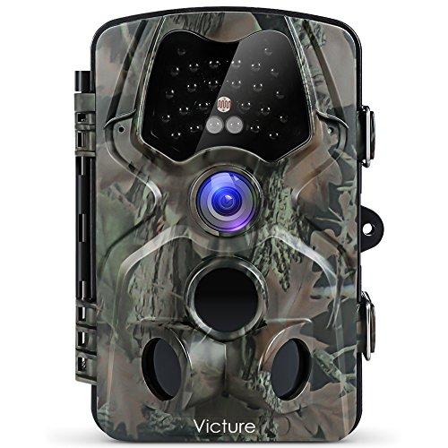 Victure トレイルカメラ 人感センサー 防犯カメラ 1200万画素 1080P フルHD 120°検知範囲 監視カメラ 2.4 インチLCD IP66防水防塵 不可視赤外線LEDライト搭載 動き検知 日本語説明書付き