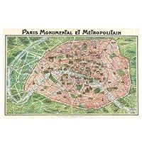 Art Nouveau Paris Map 1920