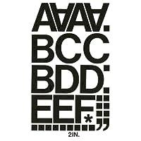 "Wholesale CASE of 25–Chartpakビニール文字とnumbers-vinyl数字/文字、2、""ブラック"