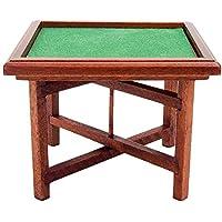 odoria 1 : 12ミニチュア折りたたみ麻雀テーブル旅行ゲームドールハウス装飾アクセサリー
