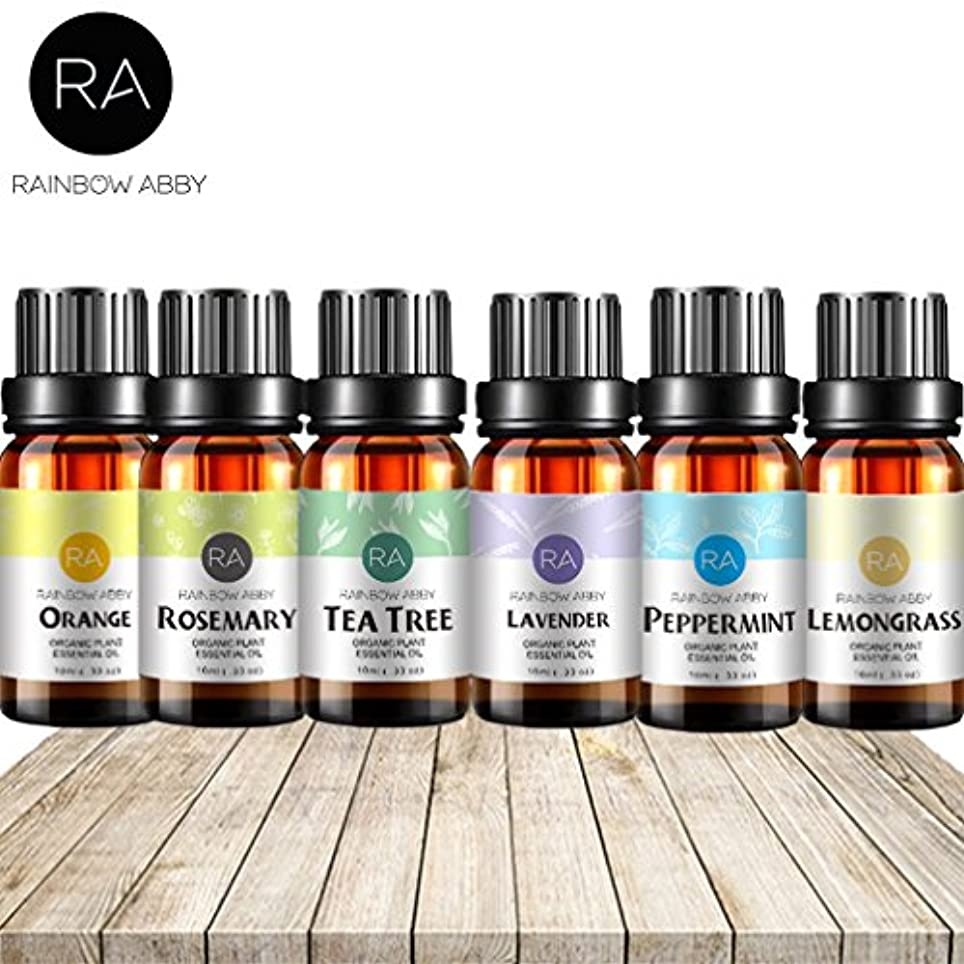 固める呼吸するロンドンRAINBOW ABBY トップ 6 アロマ オイル、エッセンシャル オイル ギフト(ラベンダー、ティーツリー、オレンジ、ペパーミント、ローズマリー、レモングラス) - によってセット