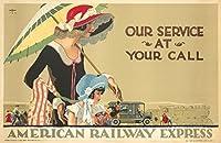 American Railway Expressヴィンテージポスター(アーティスト: Lee ) USA C。1925 9 x 12 Art Print LANT-74121-9x12