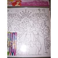 Disney Princess Puzzle Coloring Set with 6 crayons by Disney [並行輸入品]