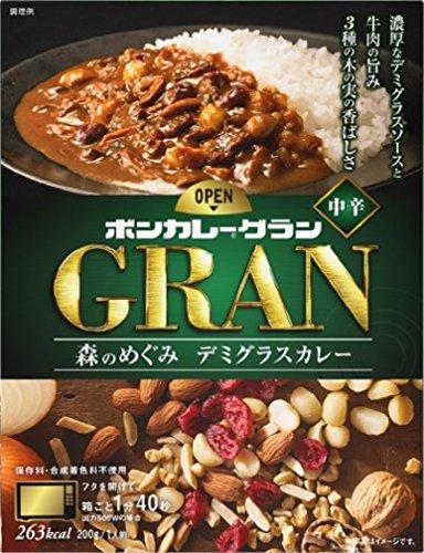 大塚食品 ボンカレーグラン 森のめぐみ デミグラスカレー 200g×3箱