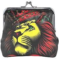 がま口 小銭入れ 財布 ライオンのキング コインケース レザー製 丸形 軽量 人気 おしゃれ プレゼント ギフト 雑貨