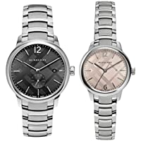 [バーバリー]BURBERRY ペアウォッチ ブラック ピンク シルバー ステンレスウォッチ BU10005BU10111 腕時計 [並行輸入品]