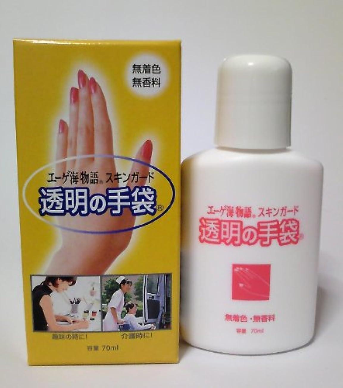 腹痛考えバッジスキンガード 透明の手袋 ハンドクリーム