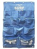 デニム ウォールポケット 13ポケット(ビーチ/ブルー)壁掛け おしゃれ 小物収納 アクセサリー収納 インテリア アメリカン雑貨 ハワイアン雑貨 収納