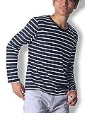 Doublefocus シンプル&ボーダーTシャツ メンズ ティーシャツ シンプル 人気 トレンド