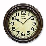 日本製 レトロ電波時計 スタンド付 アンティークブラウン DQL668 930960