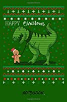 """Happy Christmas: Dino love I Journal for writing I Composition Book I Squared paper / quad paper I with integrated page numbers l Narrow Ruled I Diary  I 120 Pages I """"6x9"""" I A5 I Soft Cover"""