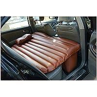 カーショックベッドカートラベルインフレータブルマットレスエアベッドバックシートキャンプリアシートSUVスリーピングマットクッションTPUレザーブラウン