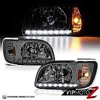 社外 ヘッドライト スモーク 01-04 トヨタ タコマ Tacoma ピックアップ LED 2.4L 2.7L 3.4L