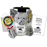 Graduation Elephant Gift Set - 11 inch Personalized Stuffed Elephant Class of 2019 Grad Gift