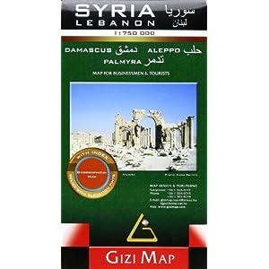 Syria & Lebanon Geographic Map: GIZI.805G