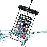 [リベルタ]LIBERTA 防水ケース スマートフォン スマホ 防水カバー 防水ポーチ iPhone6s Plus iPhone5s ネックストラップ付 日本語説明書 ブラック