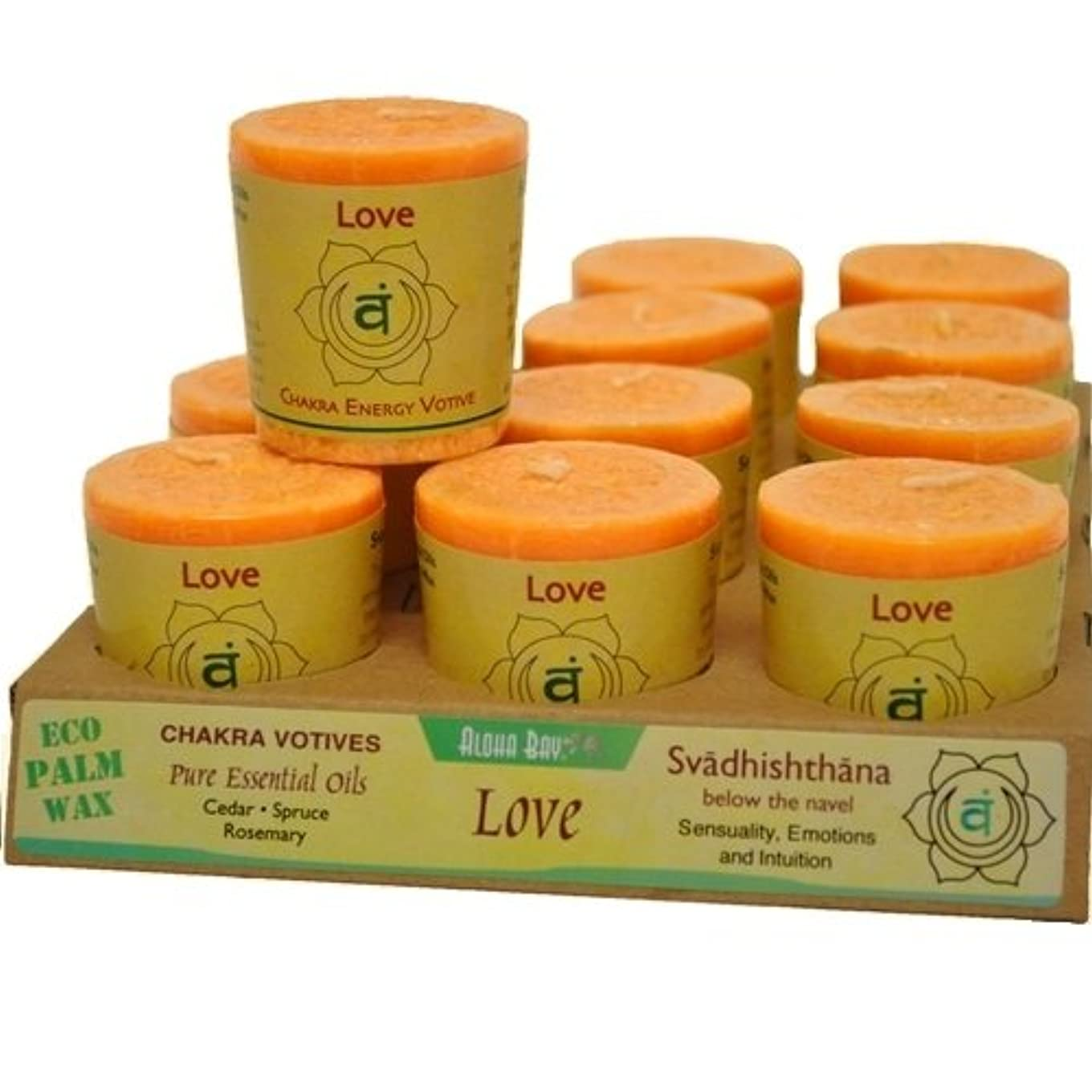 Aloha Bay 284927 Aloha Bay Chakra Votive Canlde - Love - Case of 12 - 2 oz