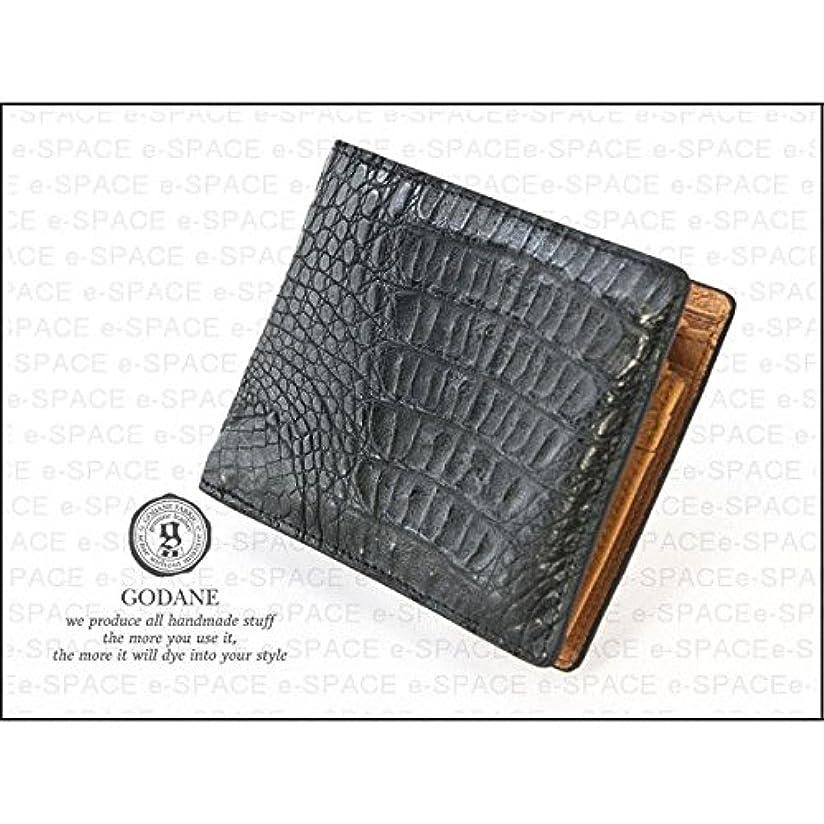 死にかけているメタン畝間【ゴダン】 GODANEクロコダイル革二つ折財布 SPCW8007cp/財布/ウォレット/短財布
