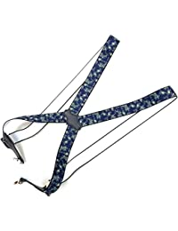 J Bridge Western 日本縫製 35mm ホルスター型 サスペンダー ゲバルト GEVAERT プリント ペイズリー ブレイシーズ ズボン吊り 吊りバンド 4117-8904
