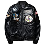 フライト ジャケット MA01 ファション PU 長袖 ミリタリー 大人カジュアル 春用 レザージャケット