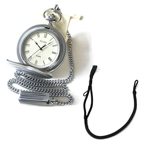 [セイコーアルバ] セイコー アルバ(SEIKO ALBA)懐中時計AABW141と懐中時計用紐 HB-2 房あり ブラックのセット