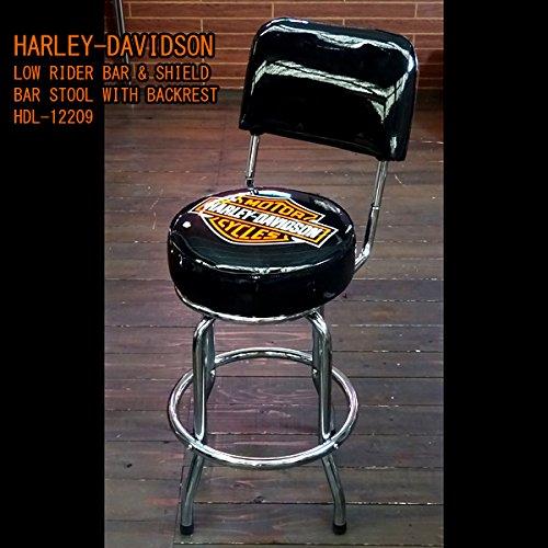 HARLEY-DAVIDSON ハーレーダビッドソン ローライダーB&S バースツール w/バックレスト HDL-12209 バーチェア、イス、インテリア、バイクグッズ、アメリカン雑貨