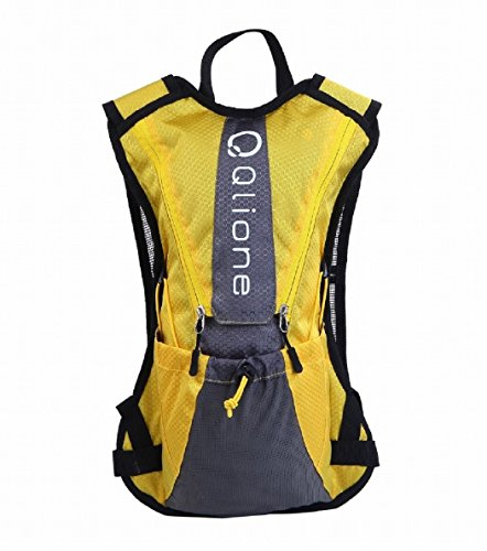 Qlione リュックバック バックパック ランニング サイクルスポーツ トレラン ウォーキング 軽量コンパクト (YELLOW)