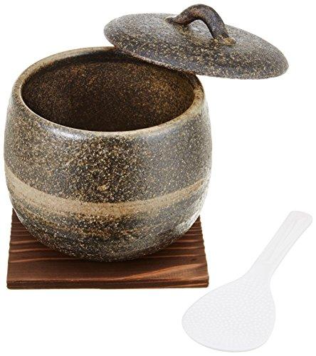 伊賀焼おひつ(刷毛目) 1.5合
