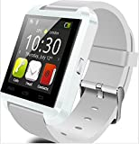 YUNTAB(JP) Bluetooth smart watch U8 スマート ウォッチ 1.44インチ 超薄型フルタッチ ウォッチ着信通知/置き忘れ防止/歩数計/消費カロリ/アラーム/時計 (白)