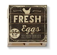 American Woodcrafters Fresh Eggs Single木製パレットコースター