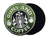 GUNS AND COFFEE ワッペン (パッチ)ベルクロ付き GREEN/WHITE-nog051603101 (GREEN/WHITE)