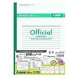 アピカ ノート オフィシャル A罫 副線入り セミB5 6AZ3FCX5G 5色セット