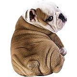 fanituhan 寝具 子供用 大人用 毛布 動物 犬 ブルドッグ 夏 掛け布団 洗濯可能 冷房対策最適 サマーキルト かわいい 犬柄 (M)