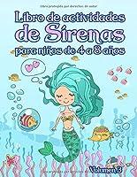 Libro de actividades de sirenas: para niños de 4 a 8 años - Volumen 3